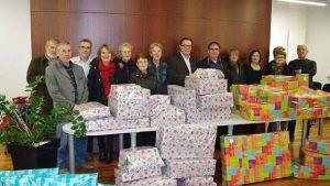 Marché de Noël - Remise des cadeaux